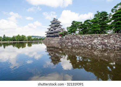 Matsumoto castle by a clear summer day.