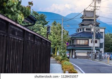 Matsumoto Castle (Matsumoto-jo), a Japanese premier historic castles in easthern Honshu, Matsumoto-shi, Chubu region, Nagano Prefecture, Japan