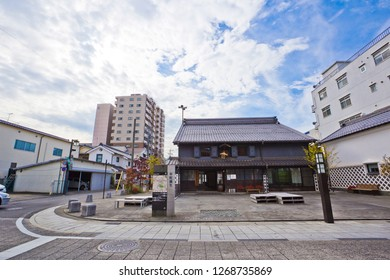 Matsumoto,Japan-Oct 2018 : Nakamachi is a street lined by several nicely preserved, old buildings, including a number of warehouse-type buildings (kura).
