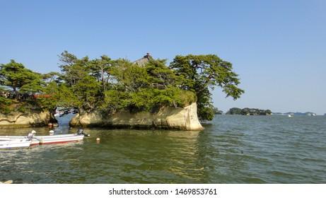 Matsushima Bay Sightseeing Cruises. Matsushima Bay is ranked as one of the Three Views of Japan. Miyagi Prefecture, Japan