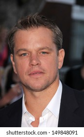 "Matt Damon at the ""Elysium"" Los Angeles Premiere, Village Theater, Westwood, CA 08-07-13"