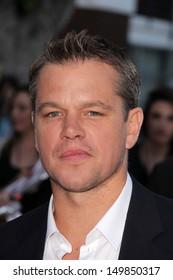 "Matt Damon at the ""Elysium"" Los Angeles Premiere, Village Theater, Westwood, CA 08-07-13"
