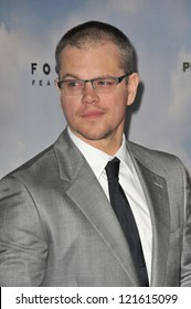 "Matt Damon at the Los Angeles premiere of his new movie ""Promised Land"" at the Directors Guild Theatre. December 6, 2012  Los Angeles, CA Picture: Paul Smith"
