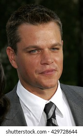 Matt Damon at the Los Angeles premiere of 'The Bourne Ultimatum' held at the ArcLight Cinemas in Hollywood, USA on July 25, 2007.
