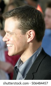 Matt Damon at the Los Angeles premiere of 'The Bourne Supremacy' held at the Cinerama Dome in Hollywood, USA on July 16, 2004.