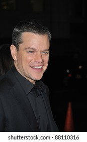 "Matt Damon at the Los Angeles premiere of his new movie ""Invictus"" at the Academy of Motion Picture Arts & Sciences Theatre. December 3, 2009  Beverly Hills, CA Picture: Paul Smith / Featureflash"