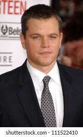 "Matt Damon at the North American Premiere of ""Ocean's Thirteen"". Grauman's Chinese Theatre, Hollywood, CA. 06-05-07"