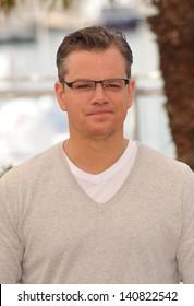 "Matt Damon at photocall for his movie ""Behind the Candelabra"" at the 66th Festival de Cannes. May 21, 2013  Cannes, France"