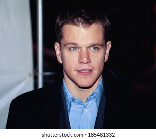 Matt Damon at the premiere of STUCK ON YOU, NY, 12/8/03