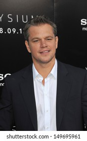 "Matt Damon at the world premiere of his movie ""Elysium"" at the Regency Village Theatre, Westwood. August 7, 2013  Los Angeles, CA"