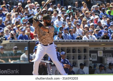 Matt Kemp outfielder for the San Diego Padres at Petco Park in San Diego California USA 9,6,15