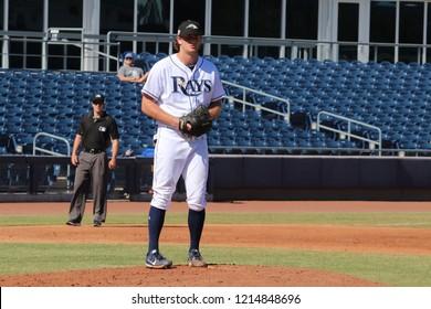 Matt Krook pitcher for the Peoria Javelinas at Peoria Sports Complex in Peoria, Arizona USA October 26,2018.