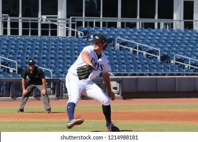 Matt Krook pitcher for the Peoria Javelinas at Peoria Sports Complex in Peoria, Arizona/USA October 26,2018.