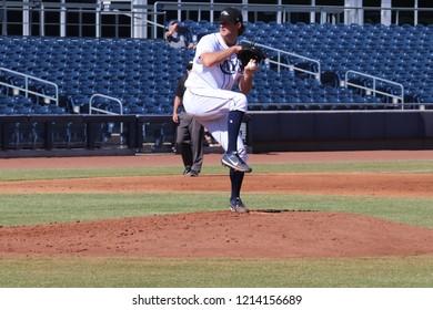 Matt Krook starting pitcher for the Peoria Javelinas at Peoria Sports Complex in Peoria, Arizona/USA October 26,2018.