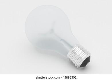 Matte lamp, 3d render