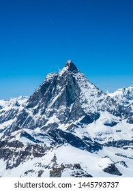 Matterhorn from Matterhorn Glacier Paradise or, Klein Matterhorn is a peak of the Pennine Alps, overlooking Zermatt in the Swiss canton of Valais