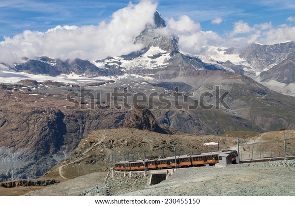 Matterhorn from Gornergrat, Zermatt, Switzerland.