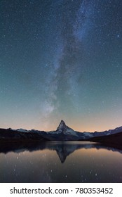 Matterhorn with the milky way