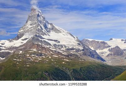 Matterhorn mountain, Zermatt area in Switzerland