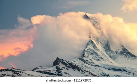 Matterhorn peak in Switzerland