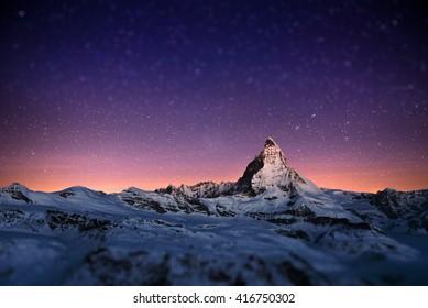 Matterhorn peak, Zermatt, Switzerland.