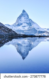 Matterhorn reflection in StelliSee, Zermatt, Switzerland