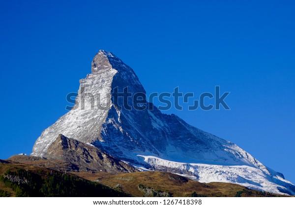 Matterhorn Zermatt Switzerland Majestic Mountain Swiss Stock