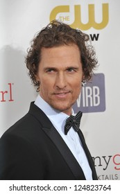 Matthew McConaughey at the 18th Annual Critics' Choice Movie Awards at Barker Hanger, Santa Monica Airport. January 10, 2013  Santa Monica, CA Picture: Paul Smith
