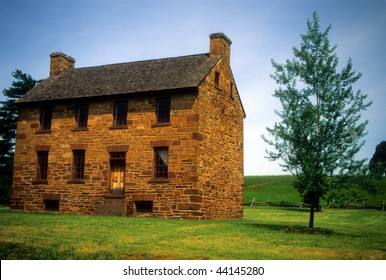 Matthews House (Stone House) on Bull Run Battlefield,   Manassas National Historical Battlefield Virginia,