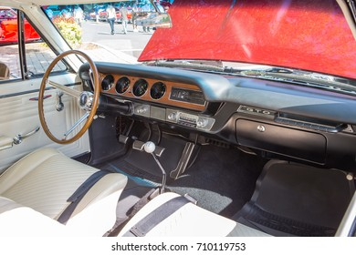 MATTHEWS, NC   September 4, 2017: Interior Of A 1965 Pontiac GTO On