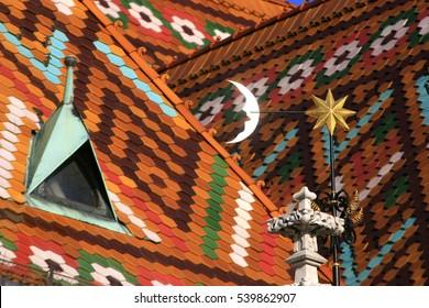 Matthias Church with glazed tiles (Buda Castle district), Budapest, Hungary