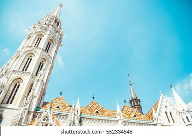 Matthias Church (Hungarian: Matyas-templom) in Budapest, located on the Buda hill, is a beautiful ornate church with exquisite roofing