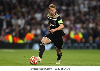 Matthijs de Ligt of Ajax - Tottenham Hotspur v Ajax, UEFA Champions League Semi Final - 1st Leg, Tottenham Hotspur Stadium, London - 30th April 2019