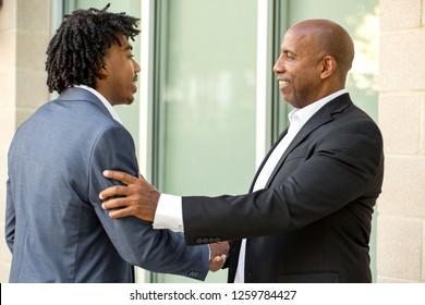 Mature African American Businessman smiling