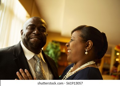 Mature African American couple.
