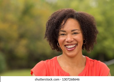 Mature African American Woman Smiling
