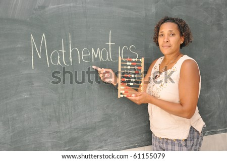 African mature teacher