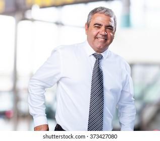mature business man holding a wallet