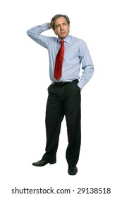mature business man isolated on white background