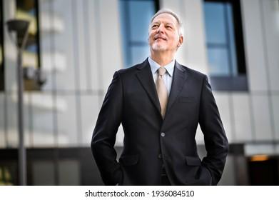 Mature business man portrait outdoor