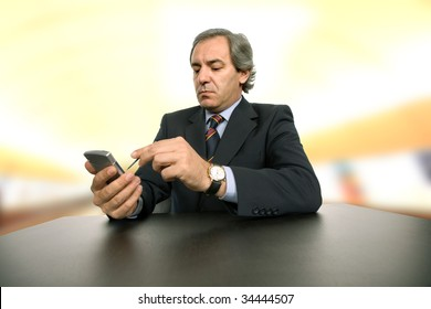 mature business man working on a desk