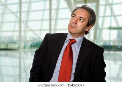 mature business man worried at the office