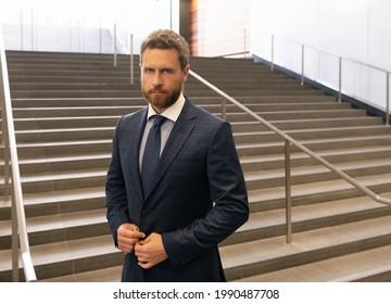 mature businessperson in formalwear. business success. successful man boss in businesslike suit.