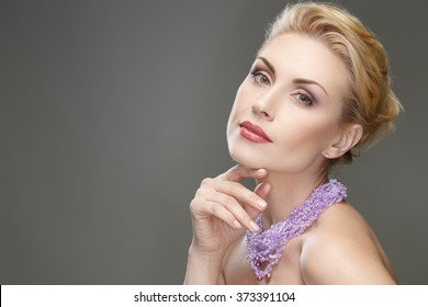 Blonde fingering mature
