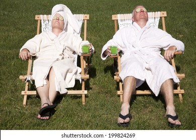 Senior lifestyle images stock photos vectors shutterstock mature couple detoxing during a do it yourself spa day in their backyard solutioingenieria Gallery
