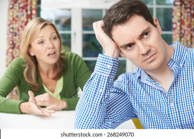 Mature Couple Having Argument At Home