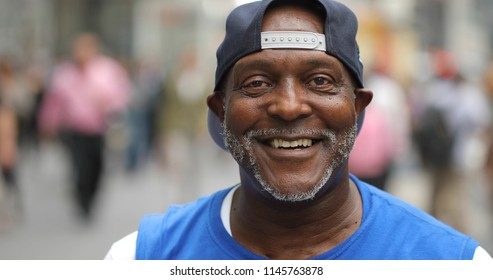 Mature man in city face portrait