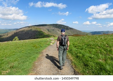 Mature Man Hiking on Appalachian Trail