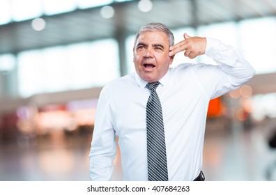 mature man suciding gesture