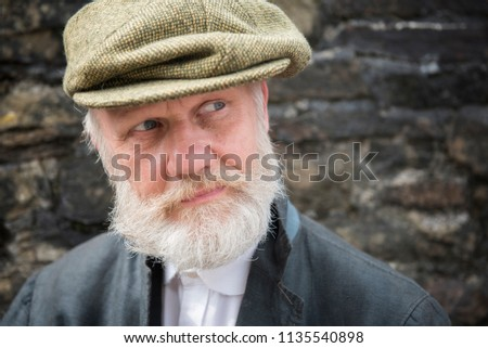 Mature Man White Beard Moustache Flat Stock Photo (Edit Now ... 4a1b70eb4f1